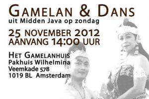 25 nov 2012 ~ 7e Editie Javaanse muziek & dans