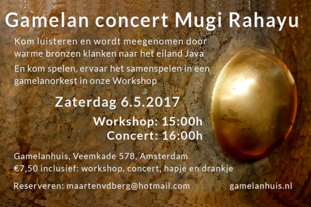 6 mei ~ Mugi Rahayu concert