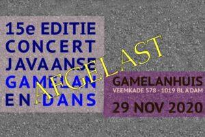 29 nov 2020 ~ 15e Editie Gamelan en Dans